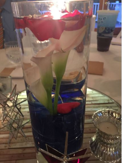 Centerpiece created by Jen's Book Club friends