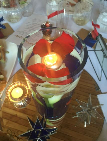 The centerpiece at their reception