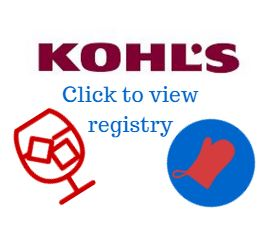 Click here to view the Kohl's wedding registry