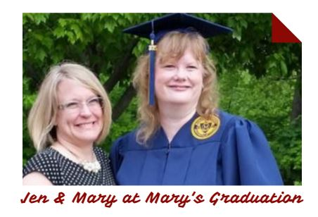 Jen & Mary at Mary's College Graduation