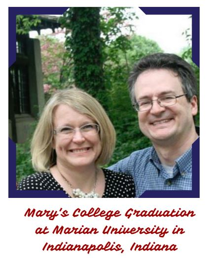 Jen & Eric at Mary Harper's college graduation in Indianapolis, Indiana