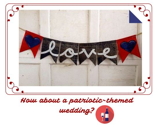 How about a patriotic wedding?