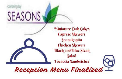 Reception Menu Finalized