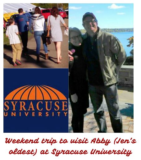 Weekend trip to visit Abby at Syracuse University